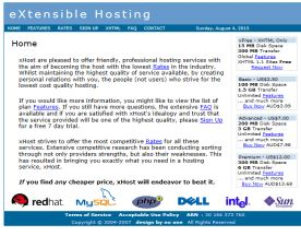 eXtensible Hosting